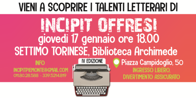 Incipit Offresi alla Biblioteca Archimede di Settimo Torinese